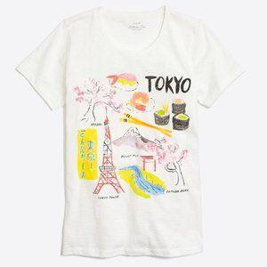 J.Crew Tokyo Destination City Collector White Tee